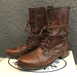 Steve Madden Troopa Boot Brown Leather - 8